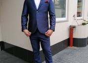 Ternos slim fit azul italiano en venta,alquiler