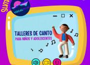 Talleres de canto dirigidos a niños y adolescentes