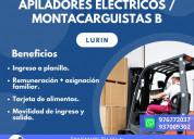 Montacarguista b/apilador eléctrico 2-lurÍn