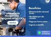10 operarios de maquina inyectora-lima
