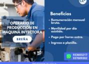 Ayudante de máquina inyectora-lima