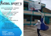 Tablero de basquetbol profesional plegable