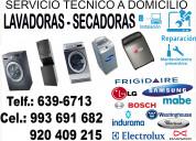 Servicio tecnico lavadoras secadoras lg mabe