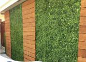 Decoracion de jardin vertical artificial