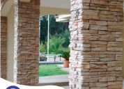 Fachaletas de concreto, piedras importadas