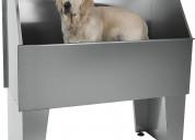 BaÑera  mesa para cortes para mascotas en acero