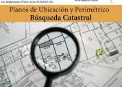 Se realizan planos de ubicaciÓn y perimetricos