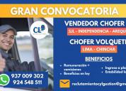 Operador de volquete socavÓn / chincha