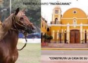 Terreno en pachacamac - canal 4