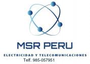 Técnico electricista servicio 24 horas 985-057951