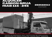 Se alquila camion grua hiab 105- 245