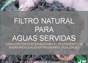 Filtro natural para aguas servidas.