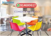 Arkimuebles  sillas en colores, para restaurante