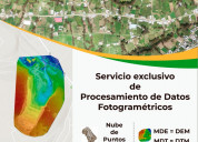 Servicio de procesamiento de datos para fotogramet
