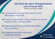 Aero fotogrametría con drones