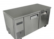 Mesa de congelación de 2 puertas de acero inoxidab