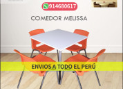 Mesas y sillas de colores para heladerÍa melissa