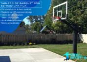 Soporte fijo para tablero de basquet