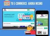 Tienda virtual con carrito de compras, contactarse