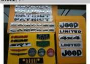 Jeep logos emblemas wrangler grand cherokee