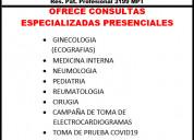 Consultorio particular ofrece lo siguiente