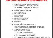 Se ofrecen las siguientes consultas medicas