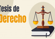 Asesor en tesis de derecho