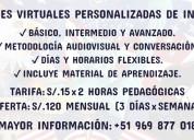 Clases virtuales personalizadas de inglÉs