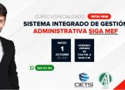 Curso sistema integrado de gestiÓn administrativa